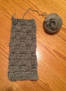 The first stage of the Turquoise's new scarf