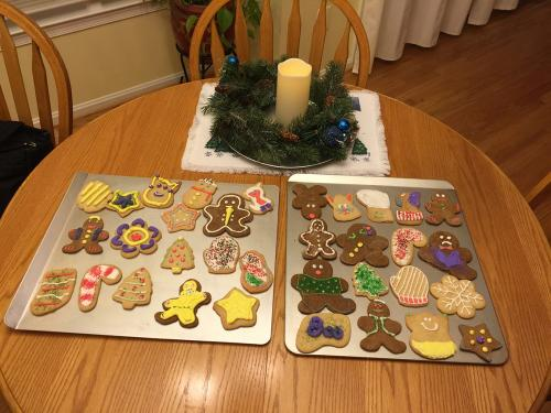 All of our creations for the evening!