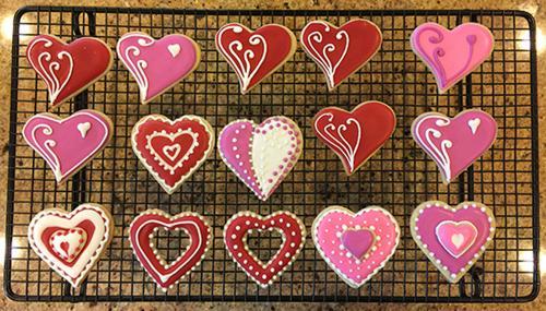 Lotsa heart designs